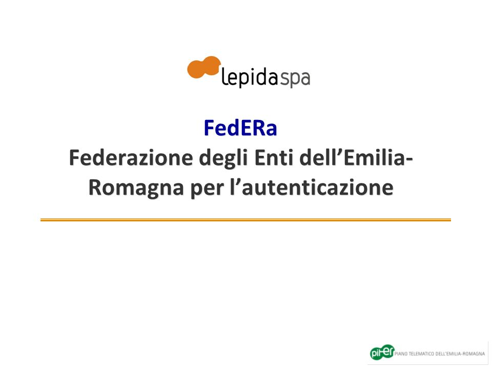 FedERa Federazione degli Enti dell'Emilia-Romagna per l'autenticazione