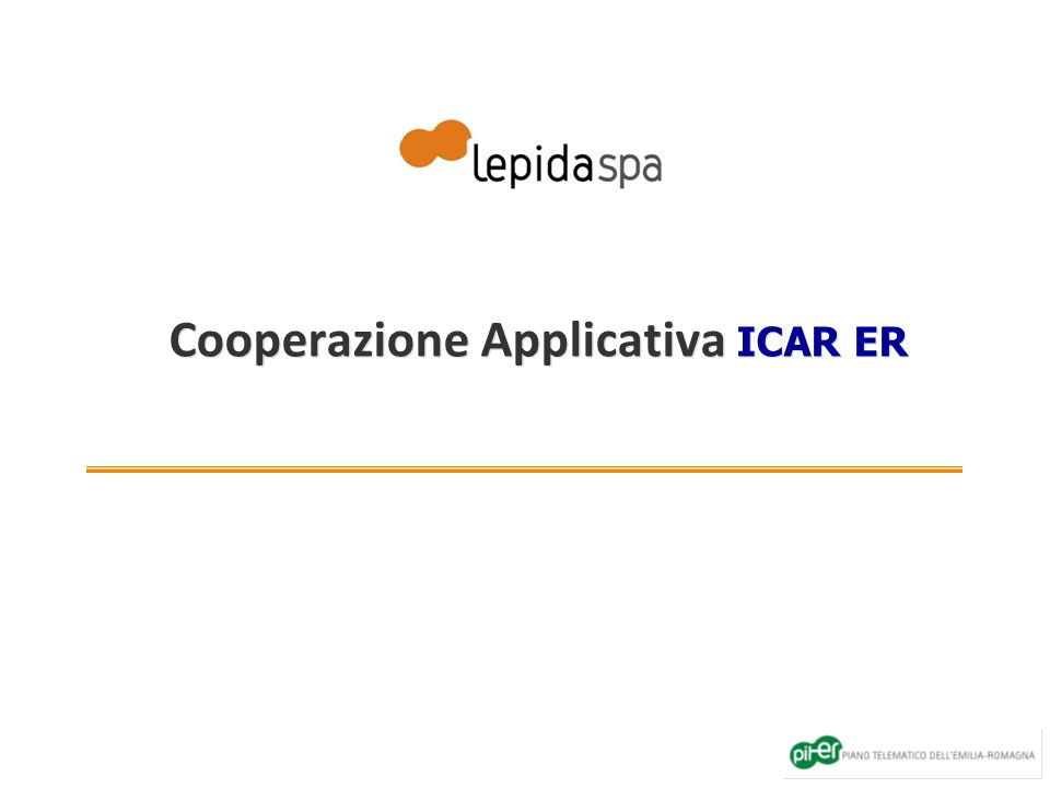 Cooperazione Applicativa ICAR ER