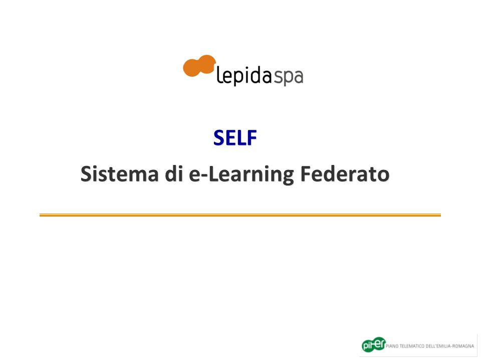 SELF Sistema di e-Learning Federato