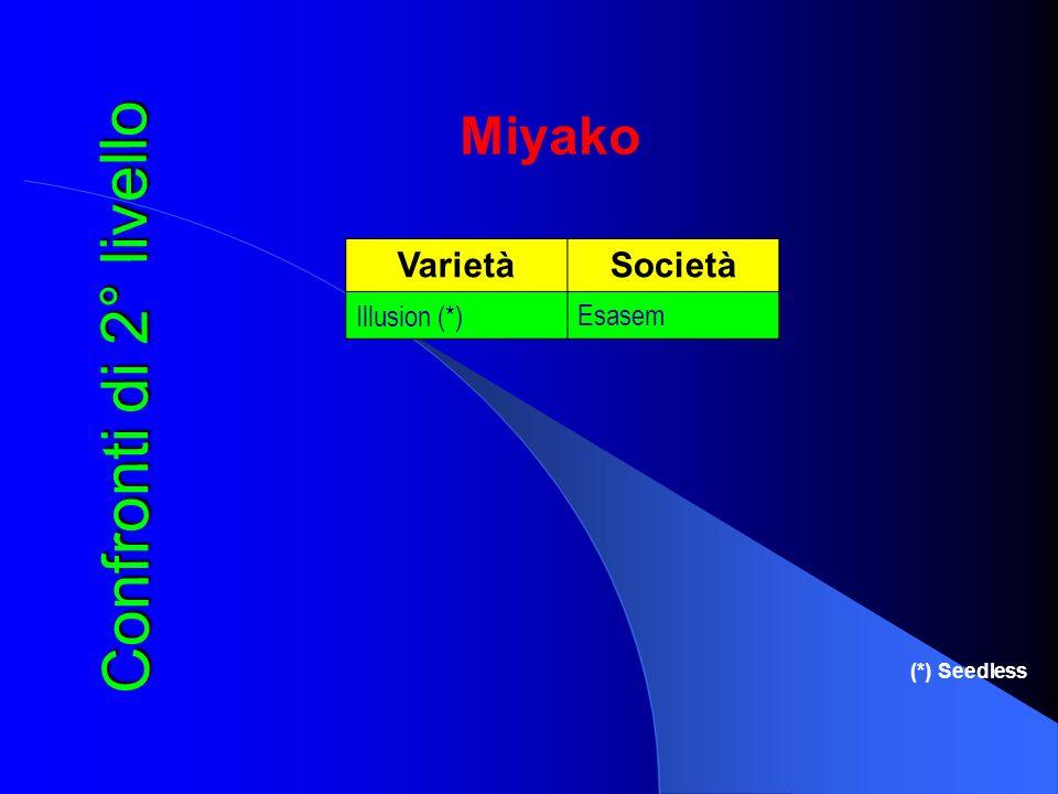 Confronti di 2° livello Miyako Varietà Società Illusion (*) Esasem