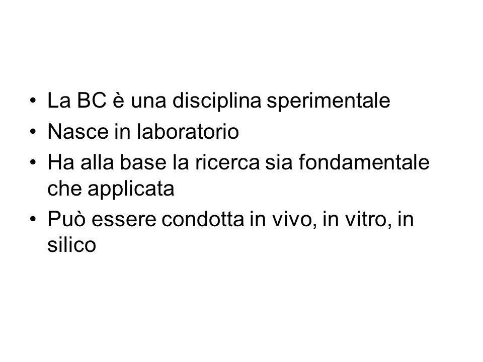 La BC è una disciplina sperimentale