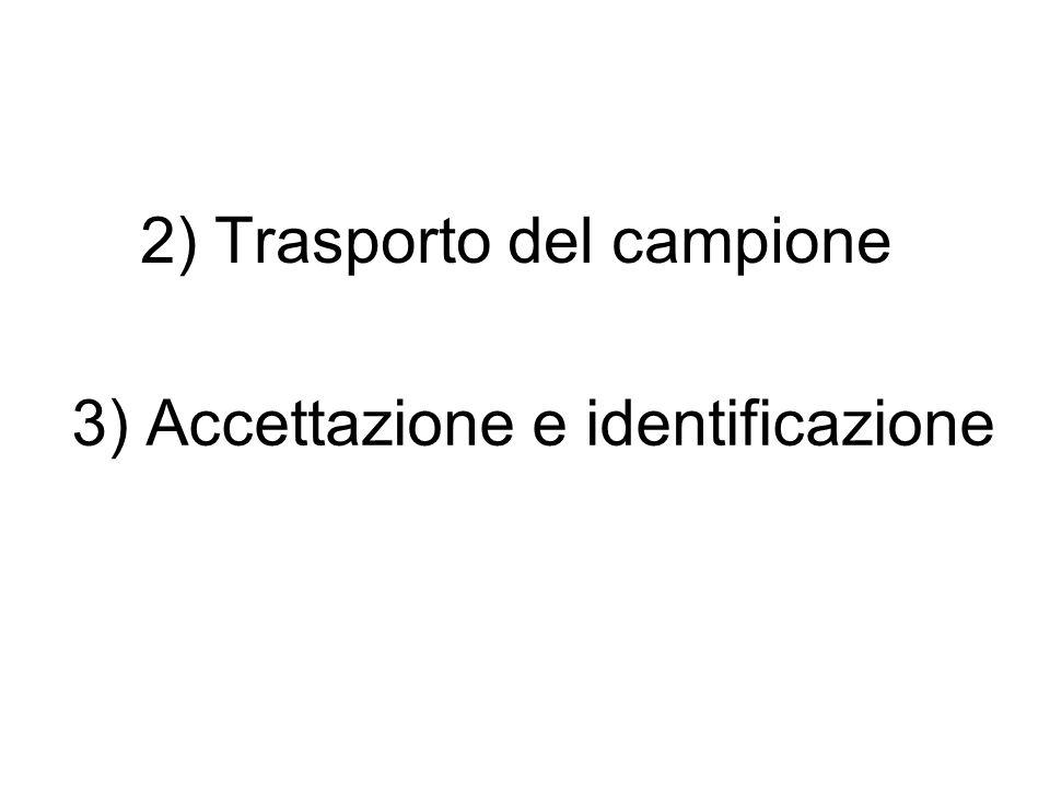 2) Trasporto del campione