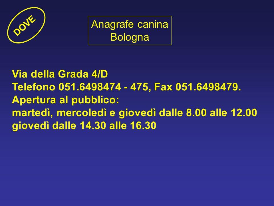 Anagrafe canina Bologna