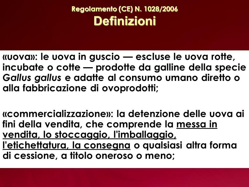 Regolamento (CE) N. 1028/2006 Definizioni