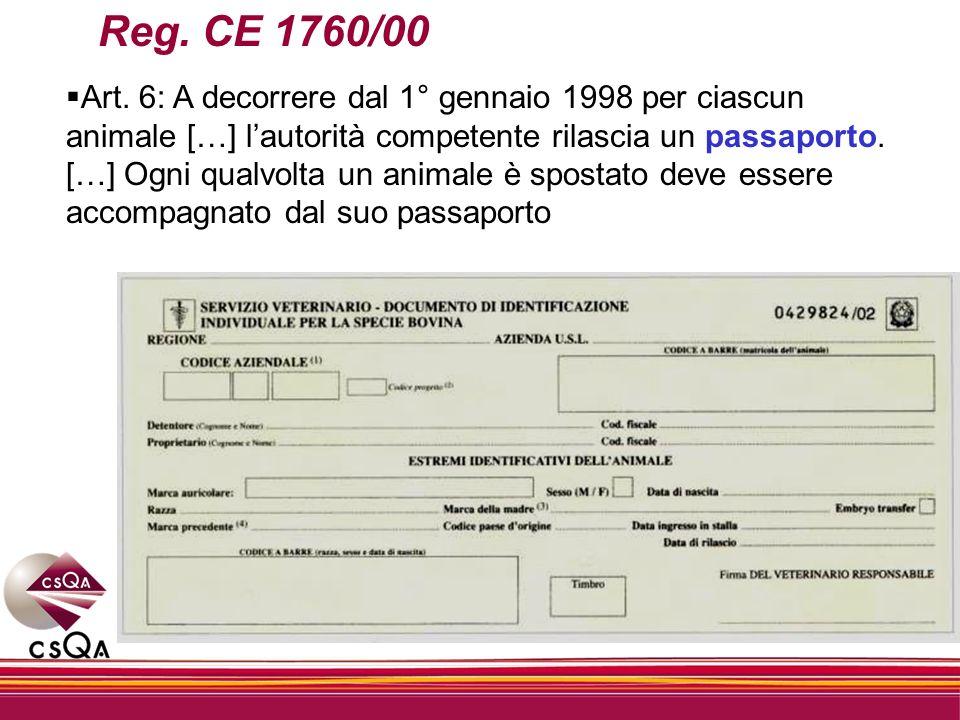Reg. CE 1760/00