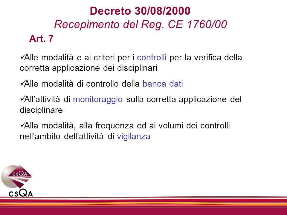 Recepimento del Reg. CE 1760/00