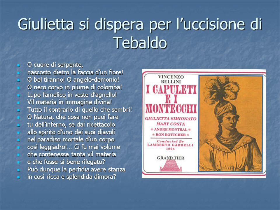 Giulietta si dispera per l'uccisione di Tebaldo