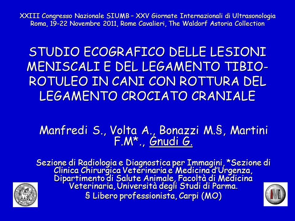 Manfredi S., Volta A., Bonazzi M.§, Martini F.M*., Gnudi G.