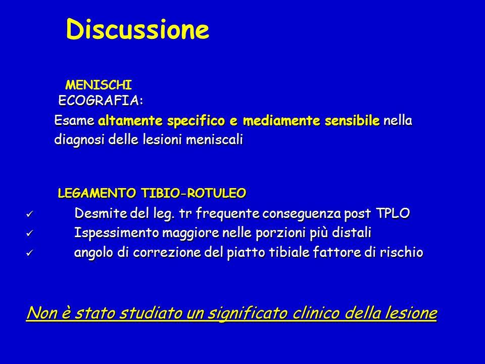 Discussione MENISCHI LEGAMENTO TIBIO-ROTULEO
