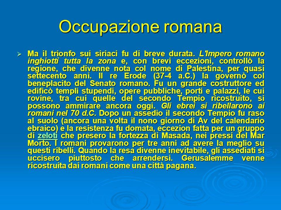 Occupazione romana