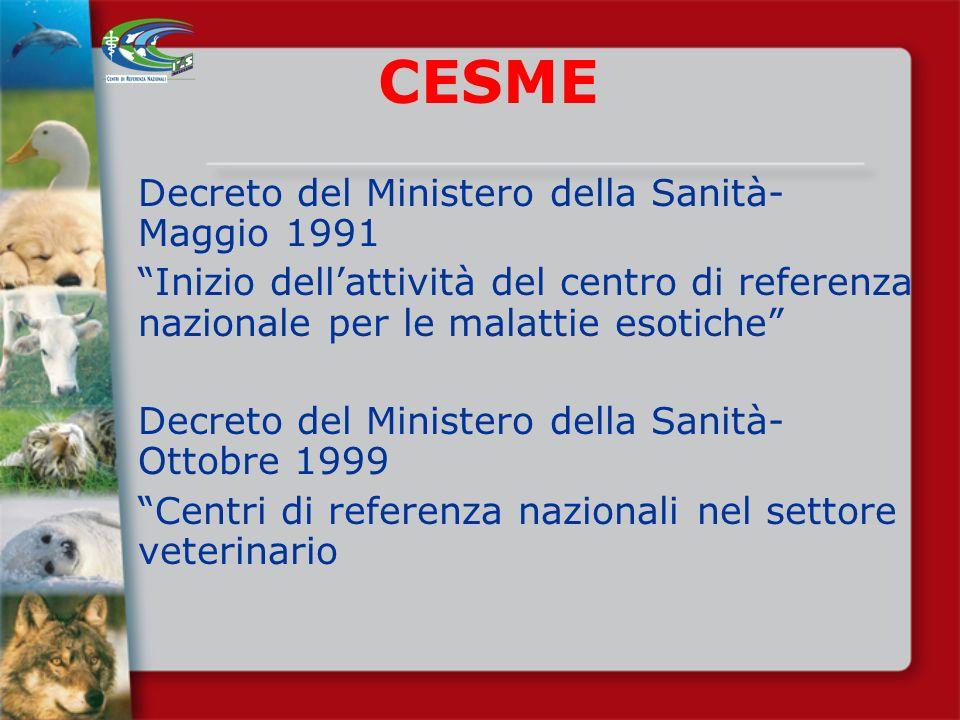 CESME Decreto del Ministero della Sanità-Maggio 1991