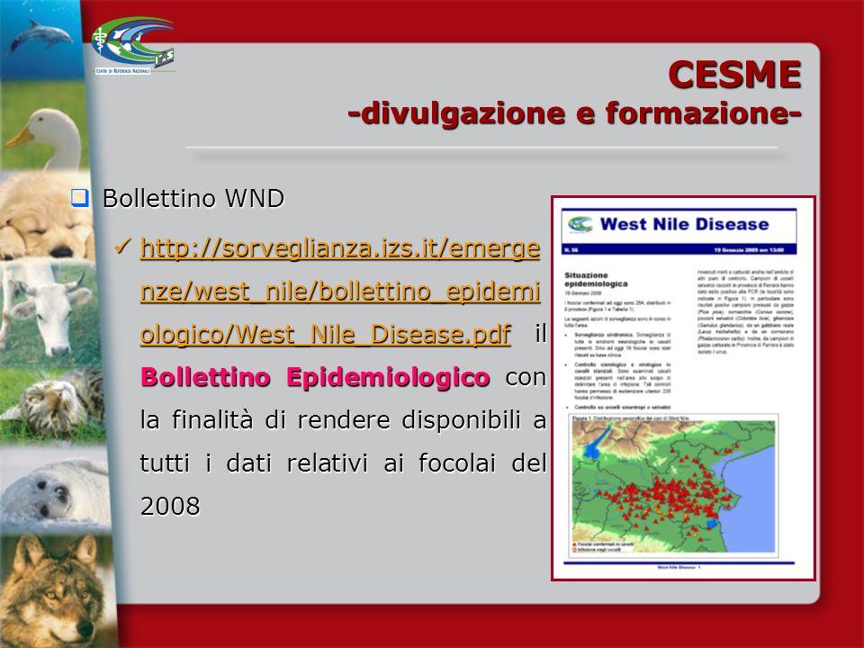 CESME -divulgazione e formazione- Bollettino WND