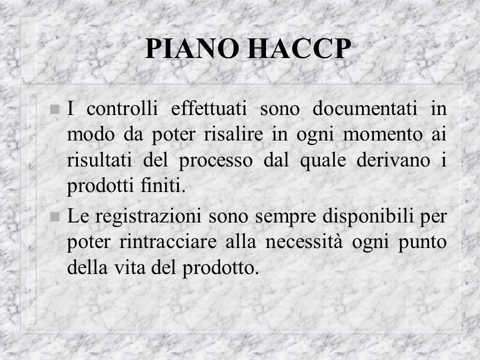 PIANO HACCP
