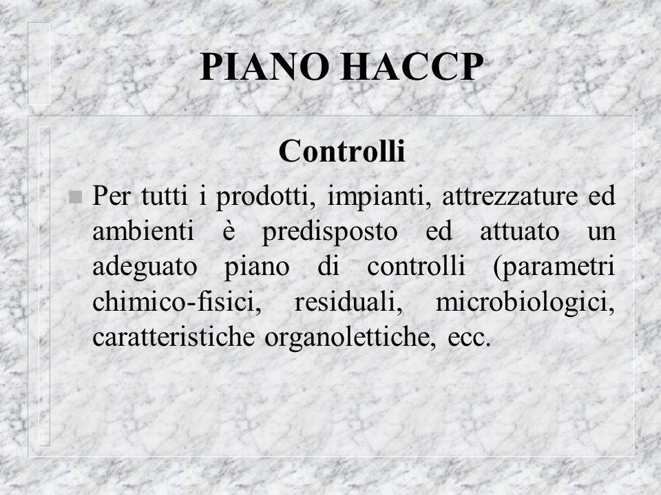 PIANO HACCP Controlli.