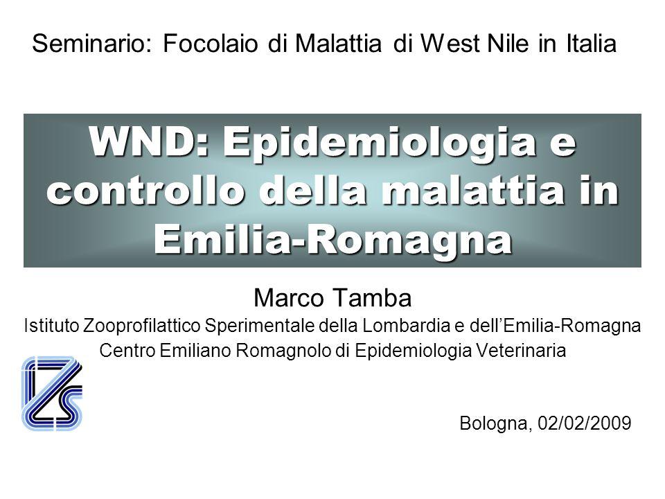 Seminario: Focolaio di Malattia di West Nile in Italia