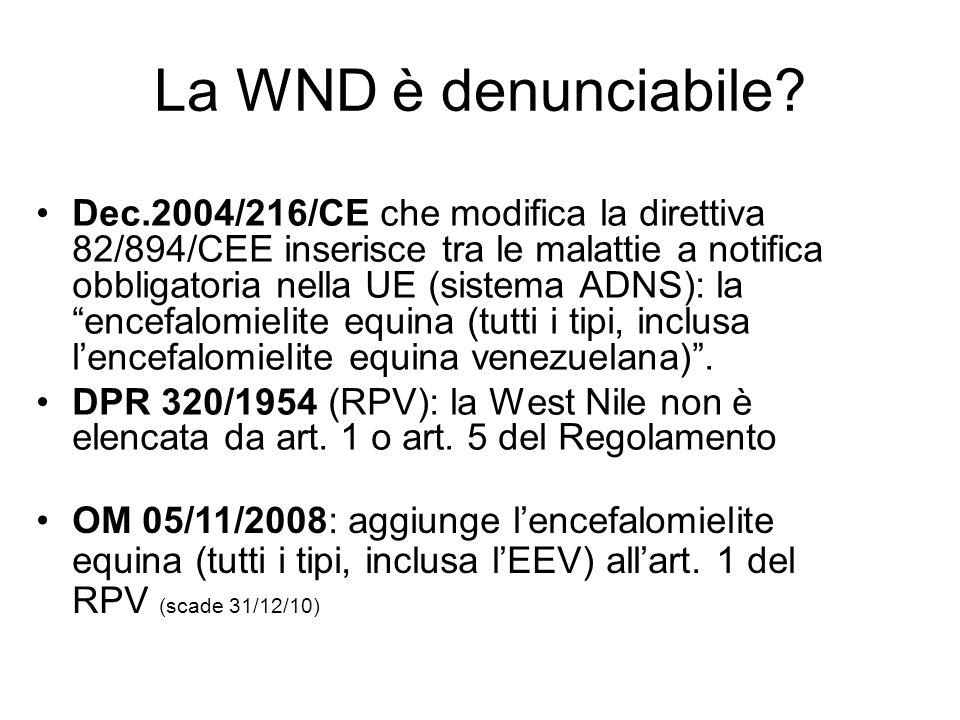 La WND è denunciabile