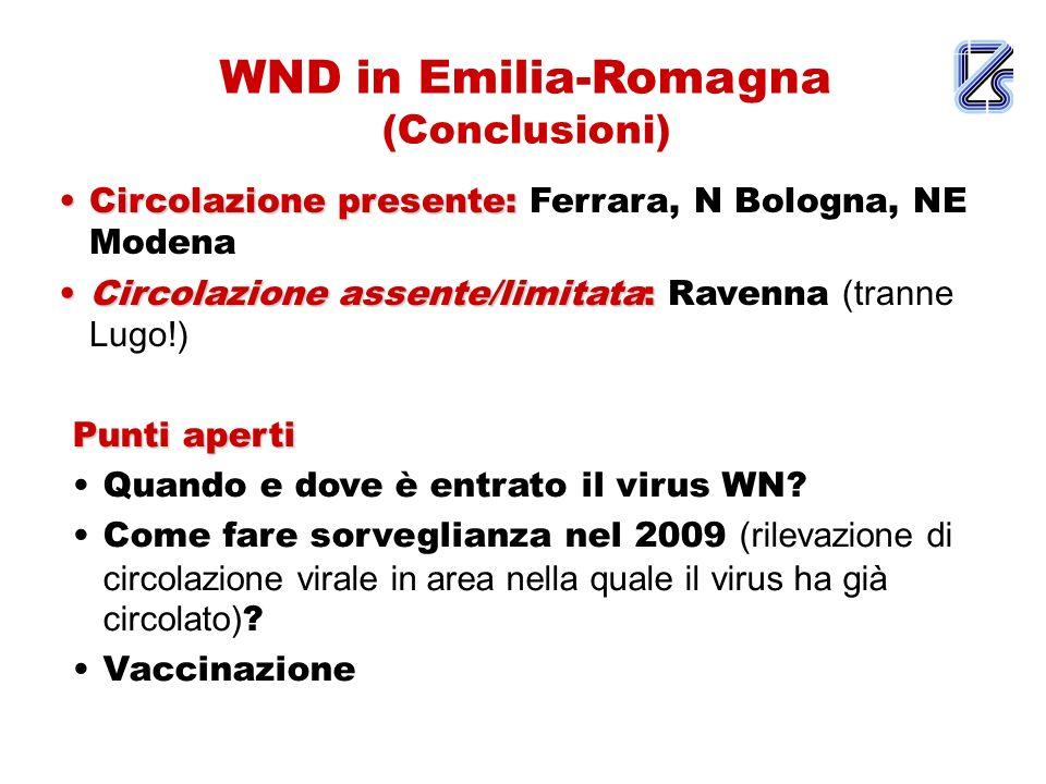 WND in Emilia-Romagna (Conclusioni)