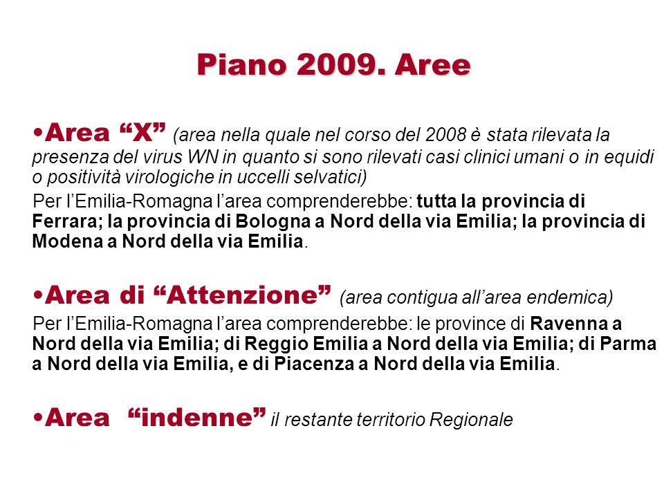 Piano 2009. Aree