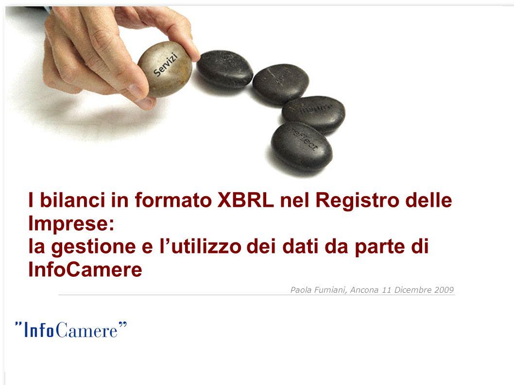 I bilanci in formato XBRL nel Registro delle Imprese: