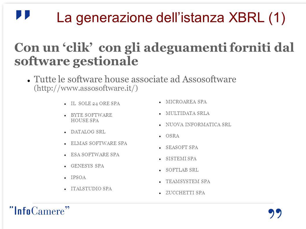 La generazione dell'istanza XBRL (1)