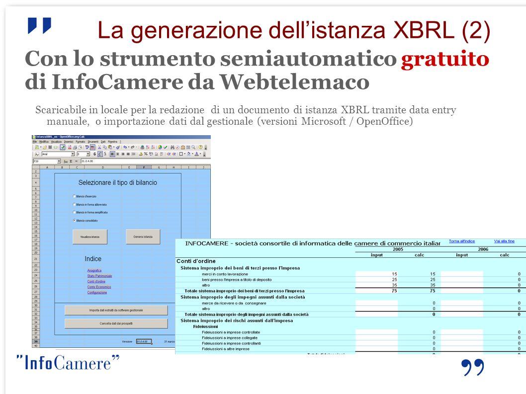 La generazione dell'istanza XBRL (2)