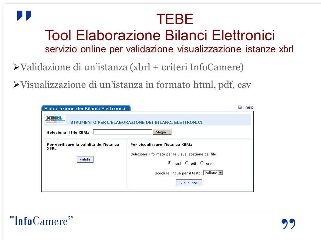 Tool Elaborazione Bilanci Elettronici