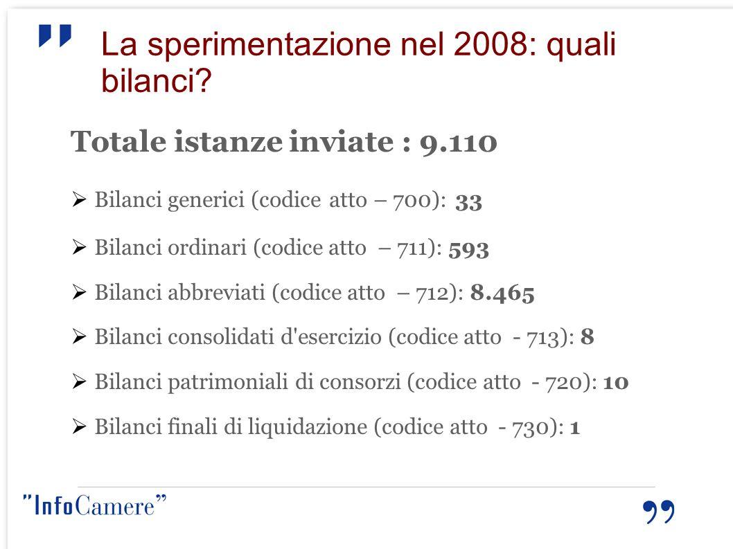 La sperimentazione nel 2008: quali bilanci