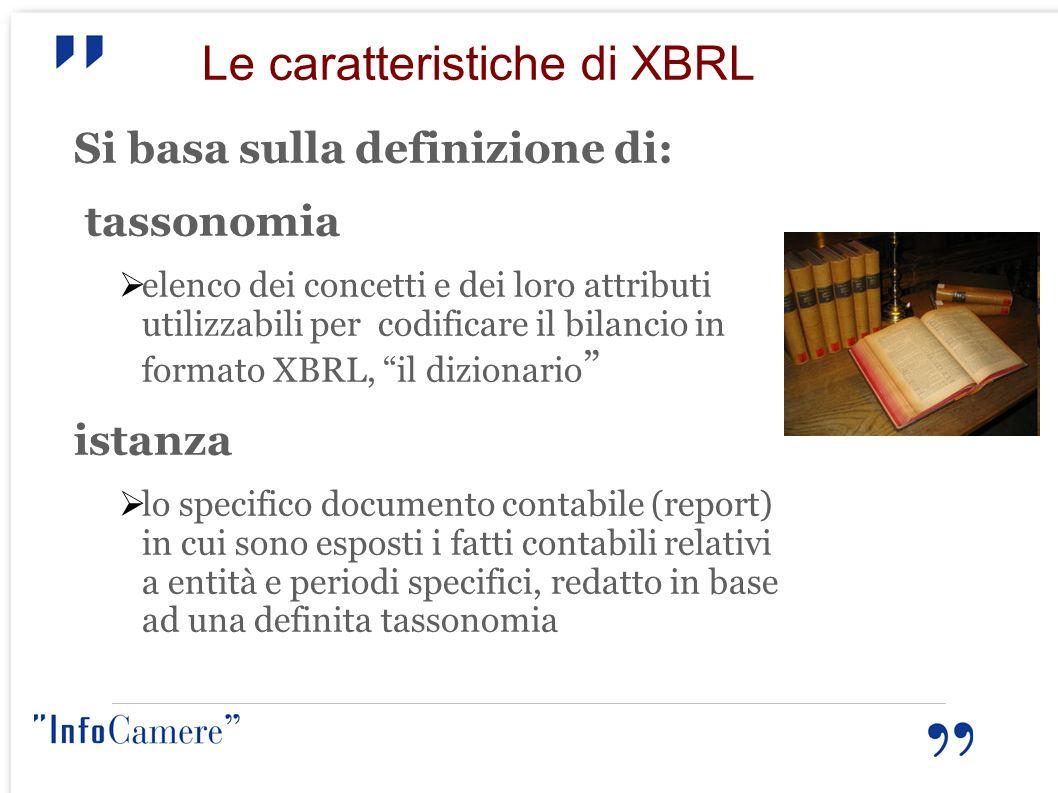 Le caratteristiche di XBRL