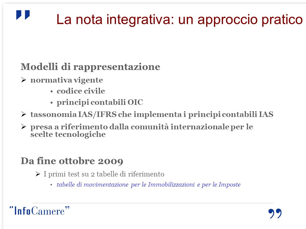 La nota integrativa: un approccio pratico