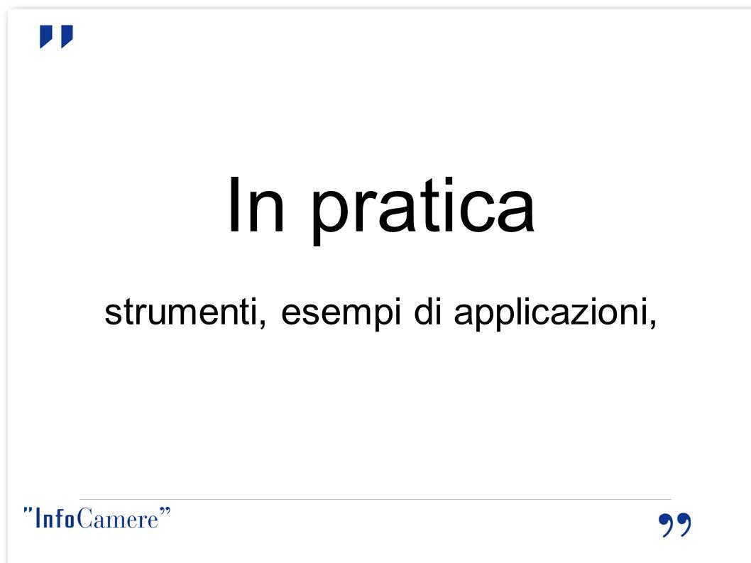 strumenti, esempi di applicazioni,