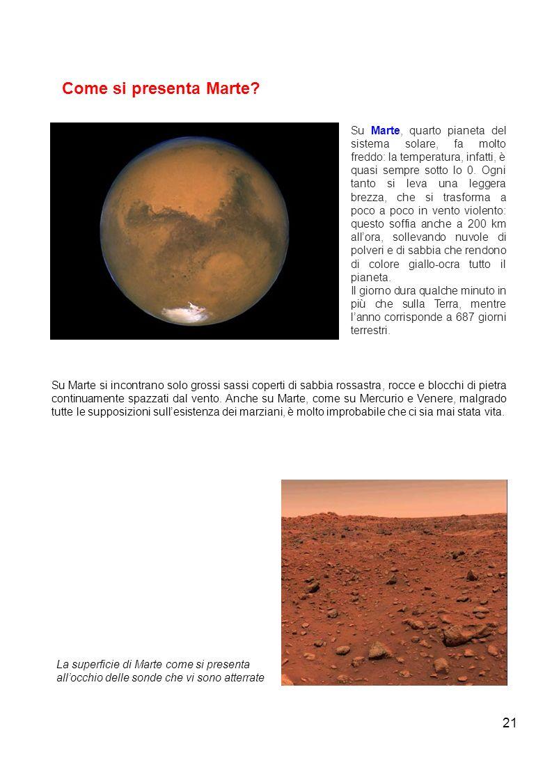 Come si presenta Marte