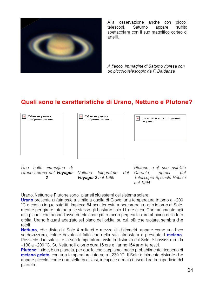 Quali sono le caratteristiche di Urano, Nettuno e Plutone