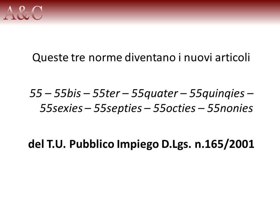 del T.U. Pubblico Impiego D.Lgs. n.165/2001