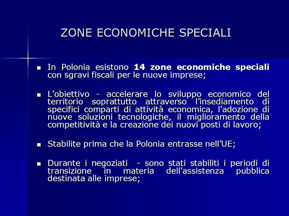 ZONE ECONOMICHE SPECIALI