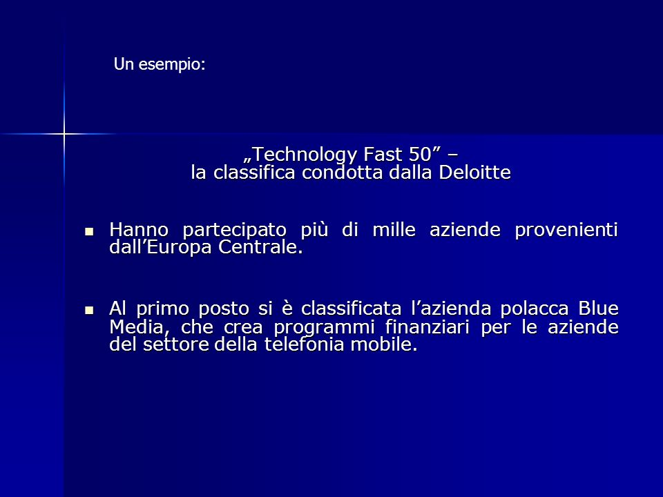 la classifica condotta dalla Deloitte