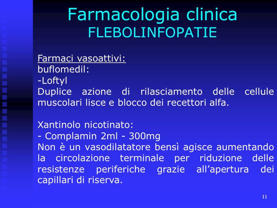 Farmacologia clinica FLEBOLINFOPATIE