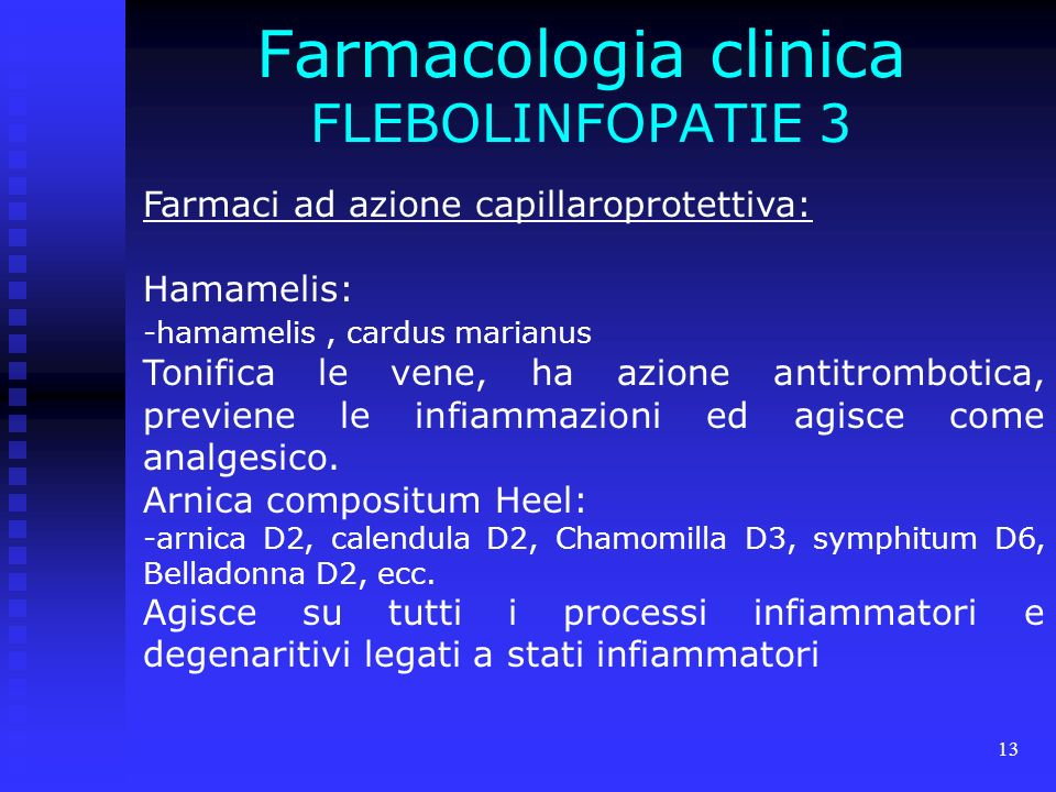 Farmacologia clinica FLEBOLINFOPATIE 3