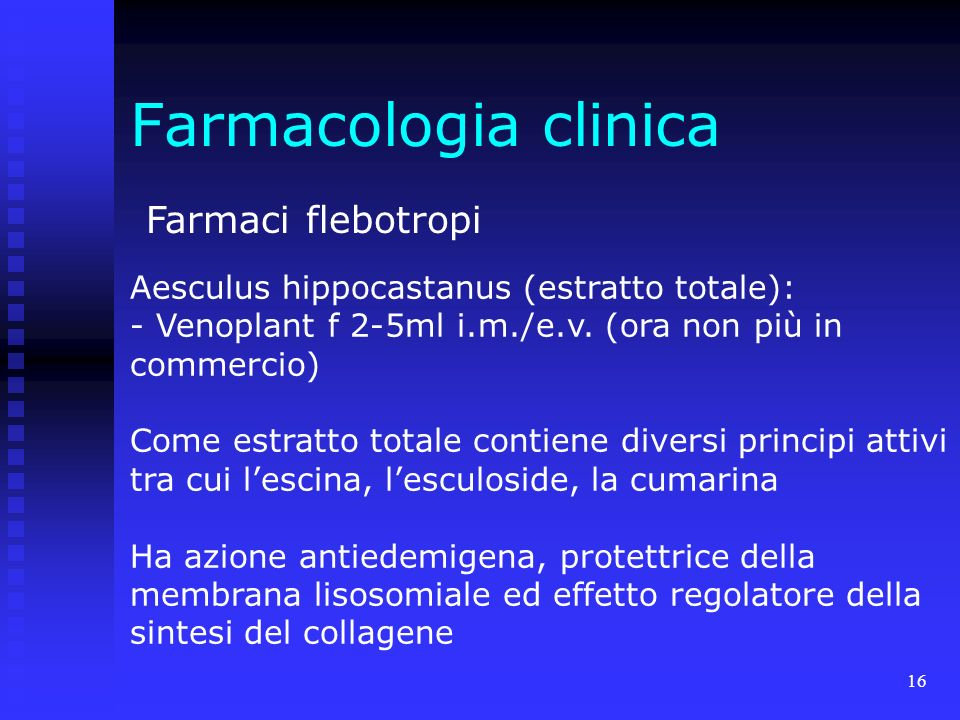 Farmacologia clinica Farmaci flebotropi