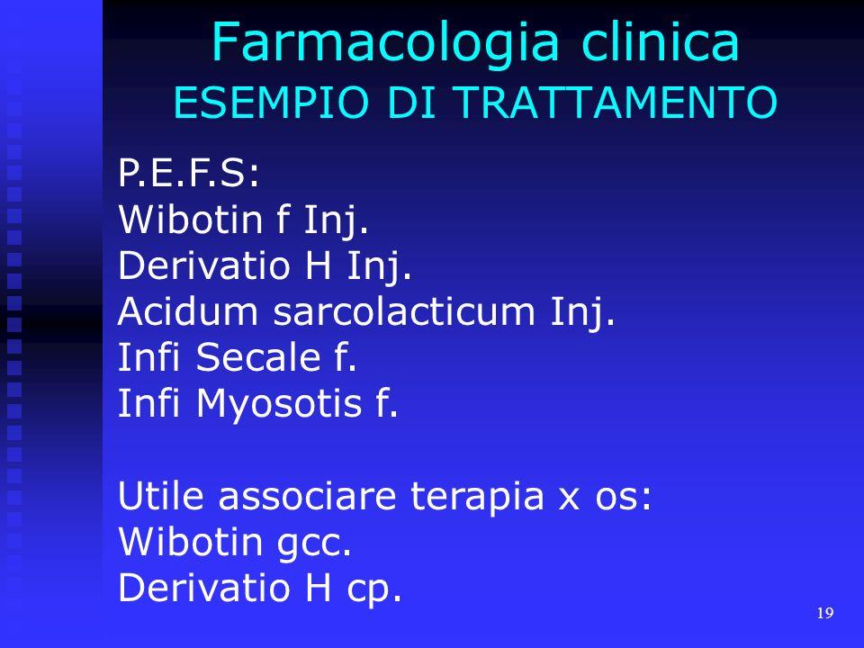 Farmacologia clinica ESEMPIO DI TRATTAMENTO