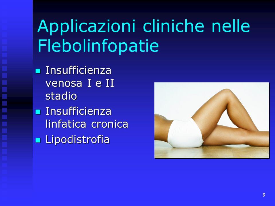 Applicazioni cliniche nelle Flebolinfopatie
