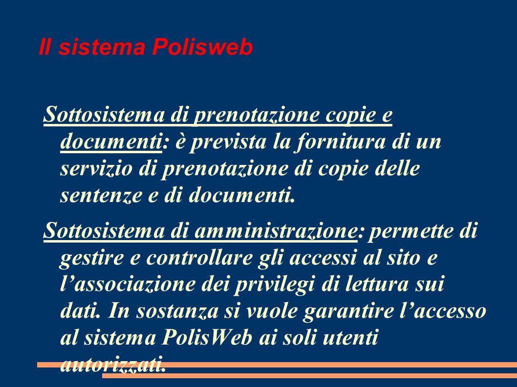 Il sistema Polisweb
