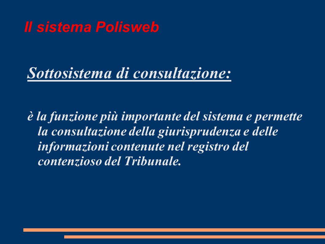 Sottosistema di consultazione: