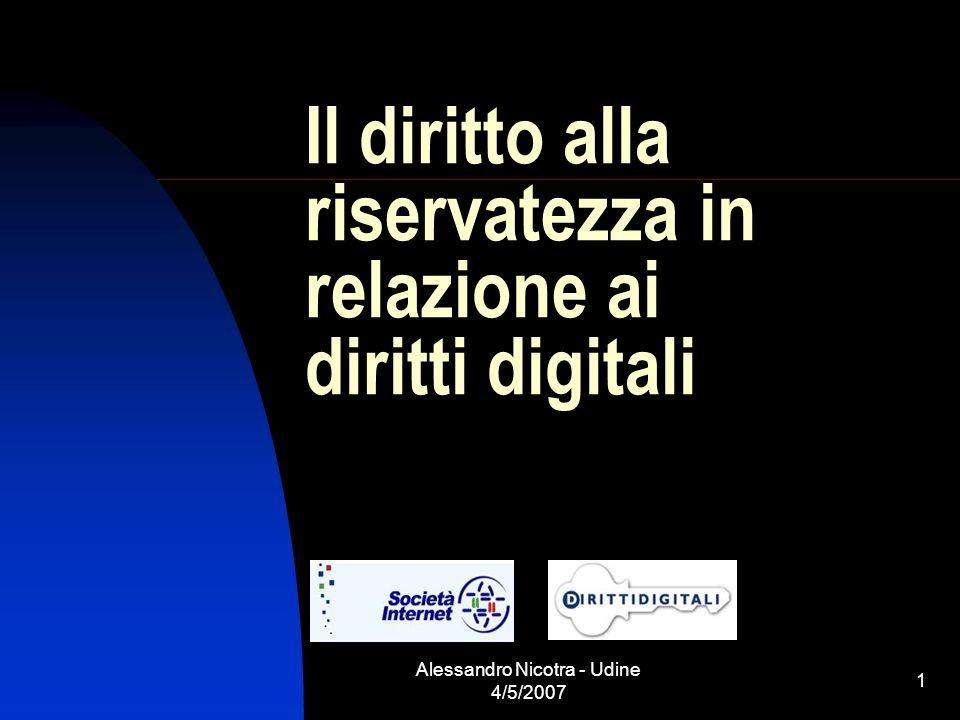 Il diritto alla riservatezza in relazione ai diritti digitali