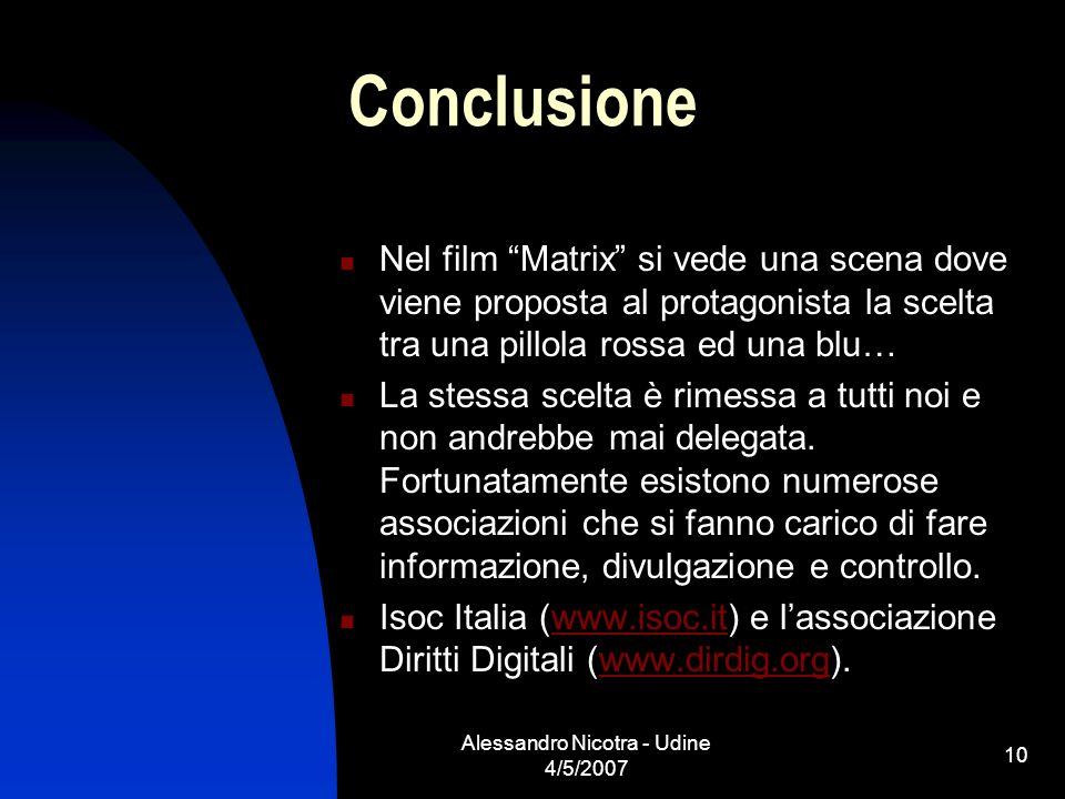Alessandro Nicotra - Udine 4/5/2007