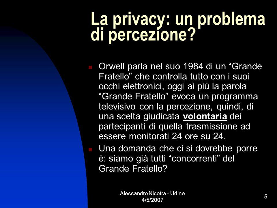 La privacy: un problema di percezione