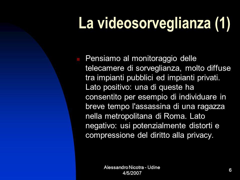 La videosorveglianza (1)