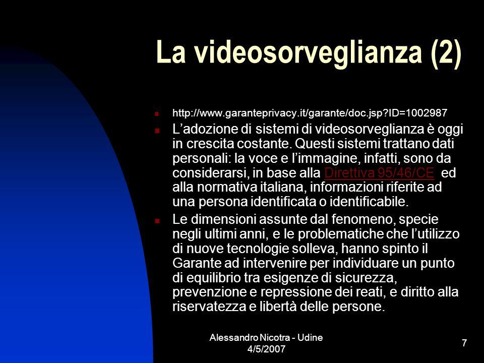 La videosorveglianza (2)