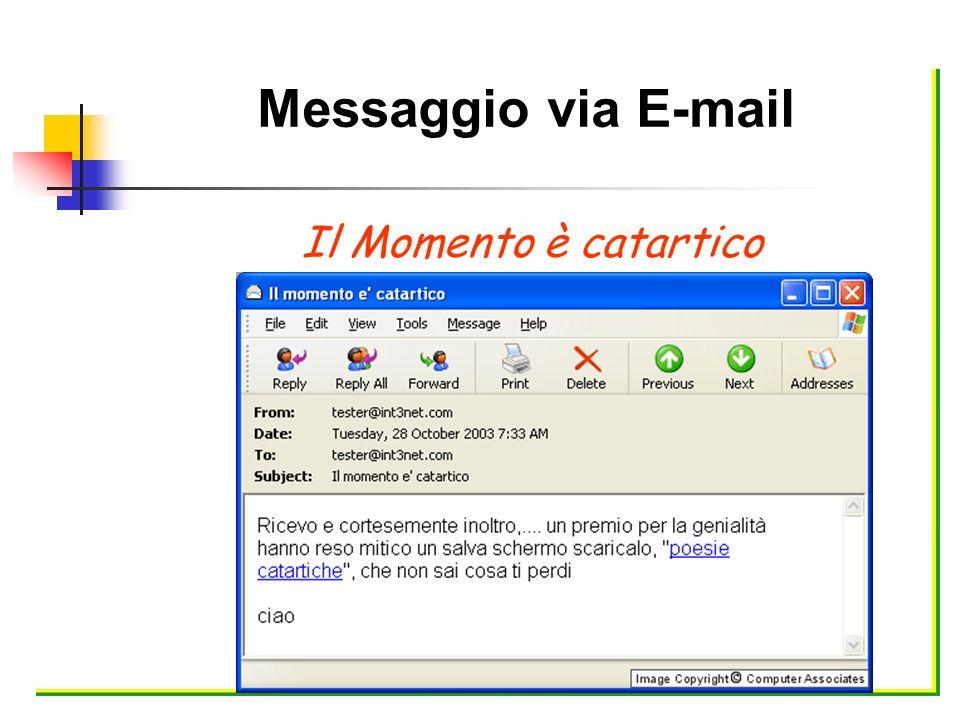 Messaggio via E-mail Il Momento è catartico