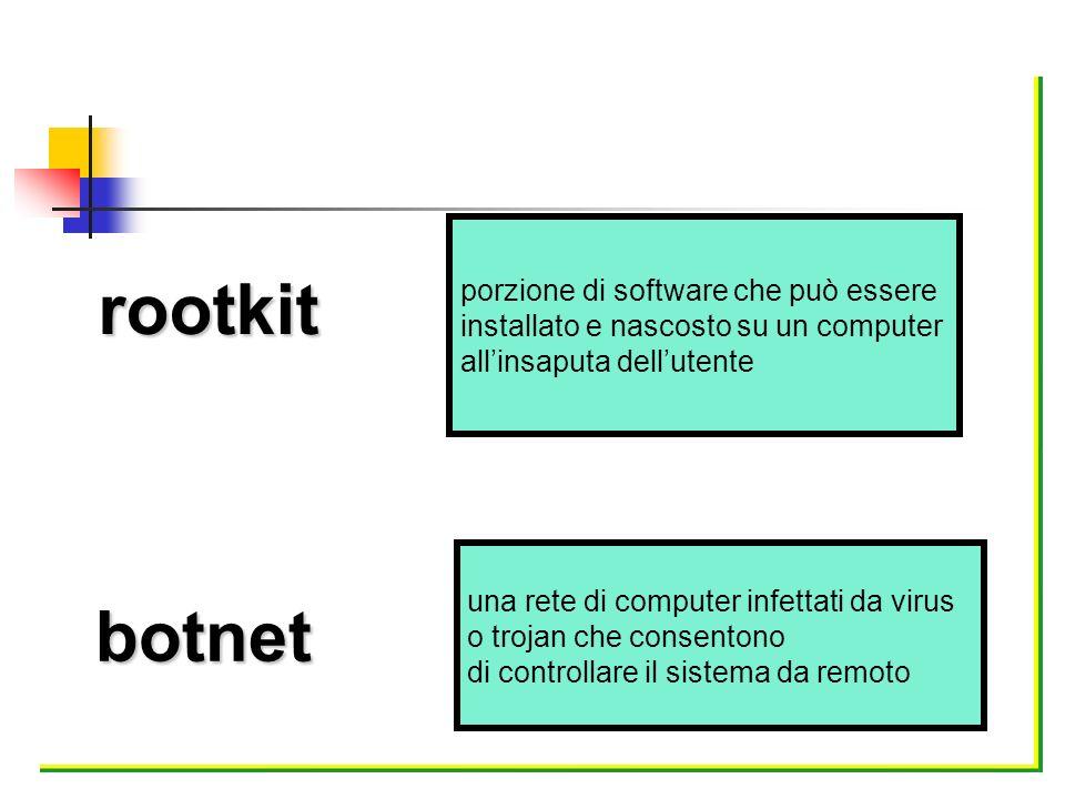 rootkit botnet porzione di software che può essere
