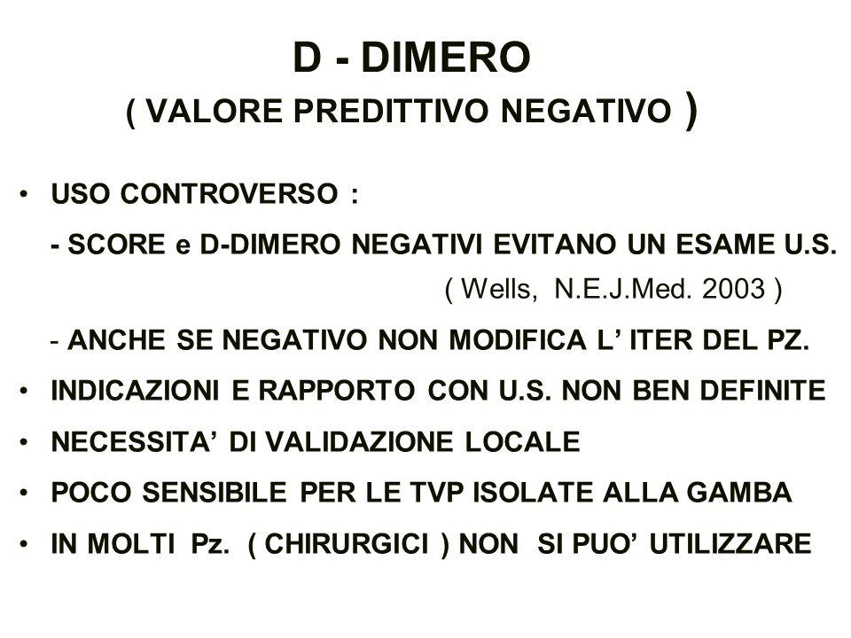 D - DIMERO ( VALORE PREDITTIVO NEGATIVO )